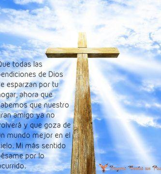 Imágenes cristianas con frases de luto