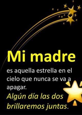 mi madre es aquella estrella en el cielo