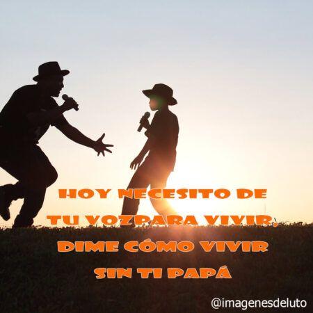 hoy necesito de tu voz para vivir dime como vivir sin ti papa