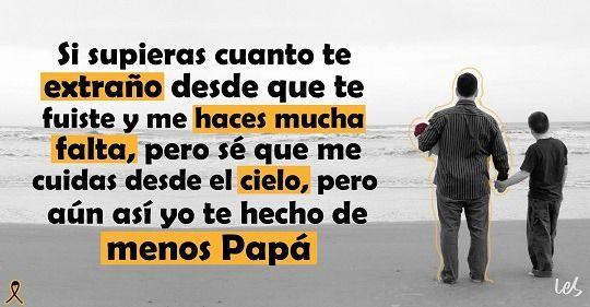 me haces falta papá
